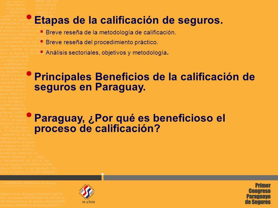 2 02/05/2014 Etapas de la calificación de seguros.