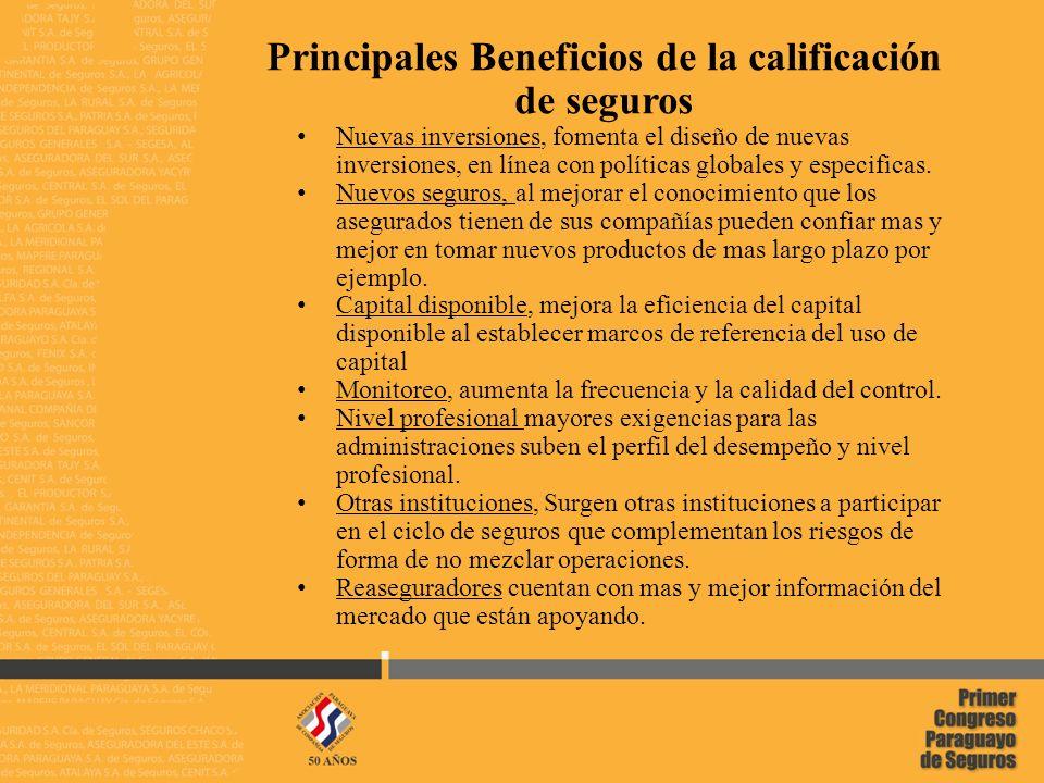8 02/05/2014 Paraguay, ¿Por qué es beneficioso el proceso de calificación.