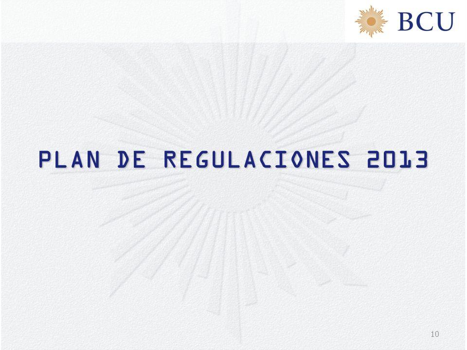 10 PLAN DE REGULACIONES 2013