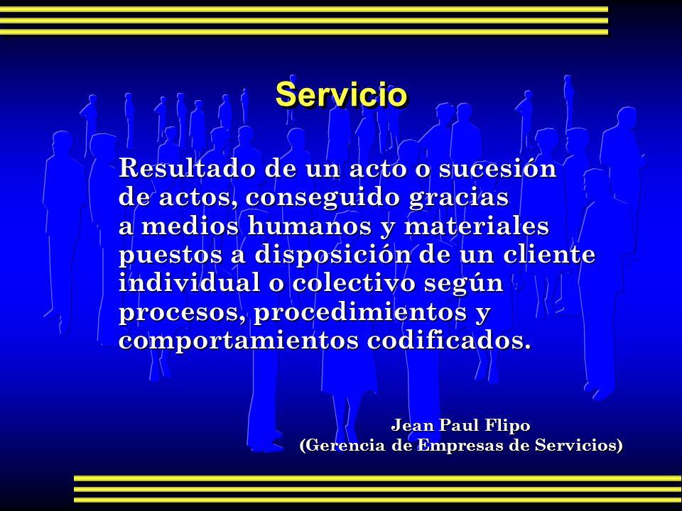 Características específicas del servicio F Propiedad F Contacto directo F Participación del cliente