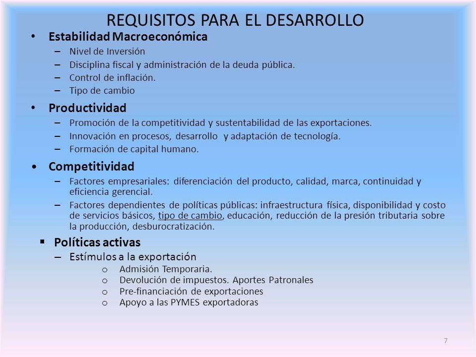 7 Estabilidad Macroeconómica – Nivel de Inversión – Disciplina fiscal y administración de la deuda pública.