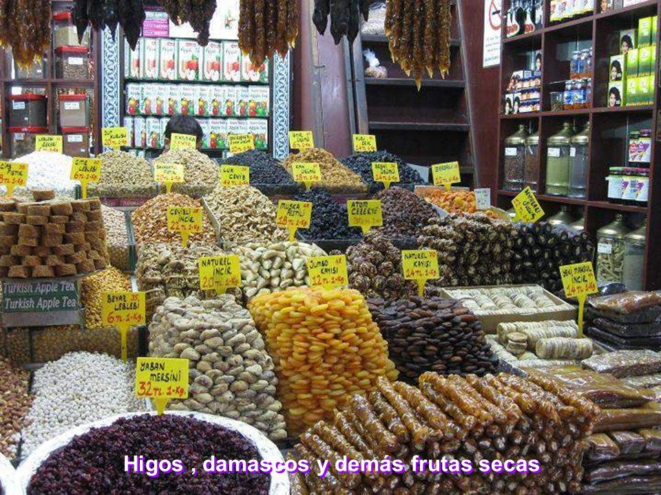 Higos, damascos y demás frutas secas