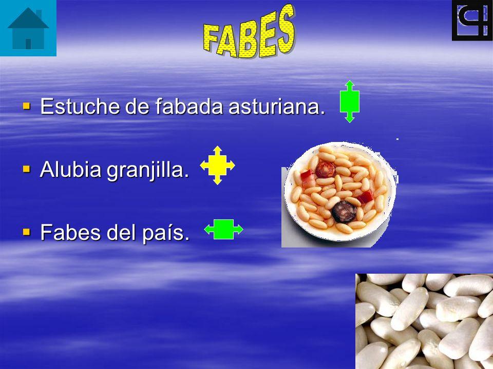 Estuche de fabada asturiana. Estuche de fabada asturiana. Alubia granjilla. Alubia granjilla. Fabes del país. Fabes del país.