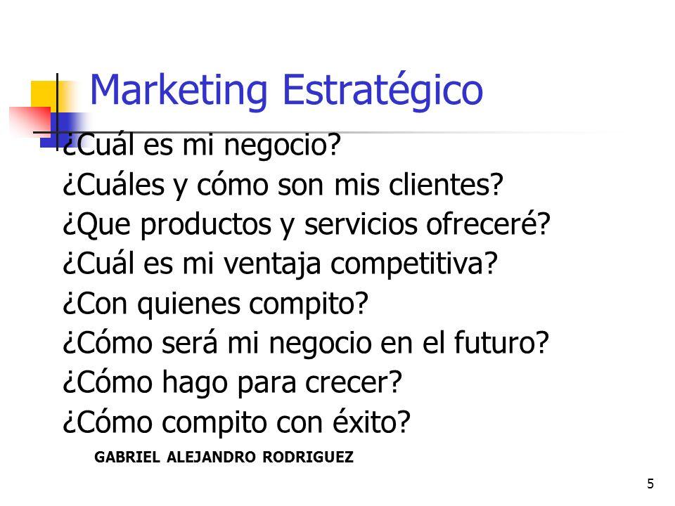 6 Marketing Operativo # Actividades y acciones para que el Marketing Estratégico se lleve a la práctica.