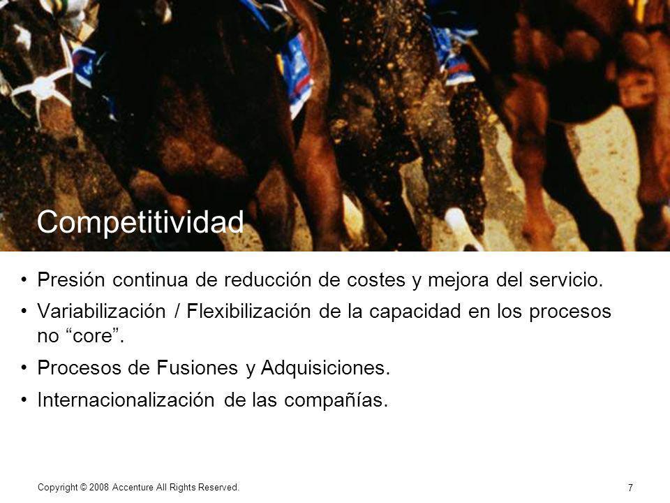 7 Competitividad Presión continua de reducción de costes y mejora del servicio.