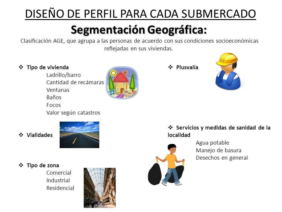 Segmentación Geográfica: Segmentación Geográfica: Clasificación AGE, que agrupa a las personas de acuerdo con sus condiciones socioeconómicas reflejad