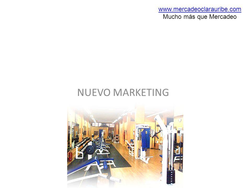NUEVO MARKETING www.mercadeoclarauribe.com Mucho más que Mercadeo