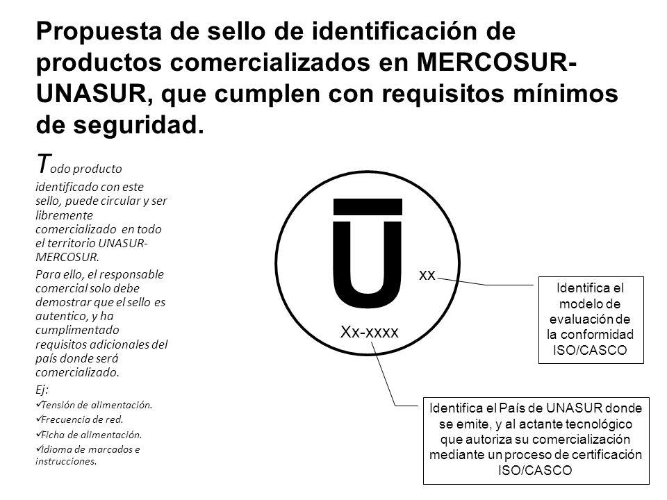 Propuesta de sello de identificación de productos comercializados en MERCOSUR- UNASUR, que cumplen con requisitos mínimos de seguridad.