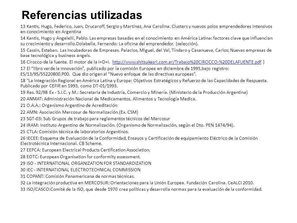 13 Kantis, Hugo, Federico, Juan, Drucaroff, Sergio y Martínez, Ana Carolina.