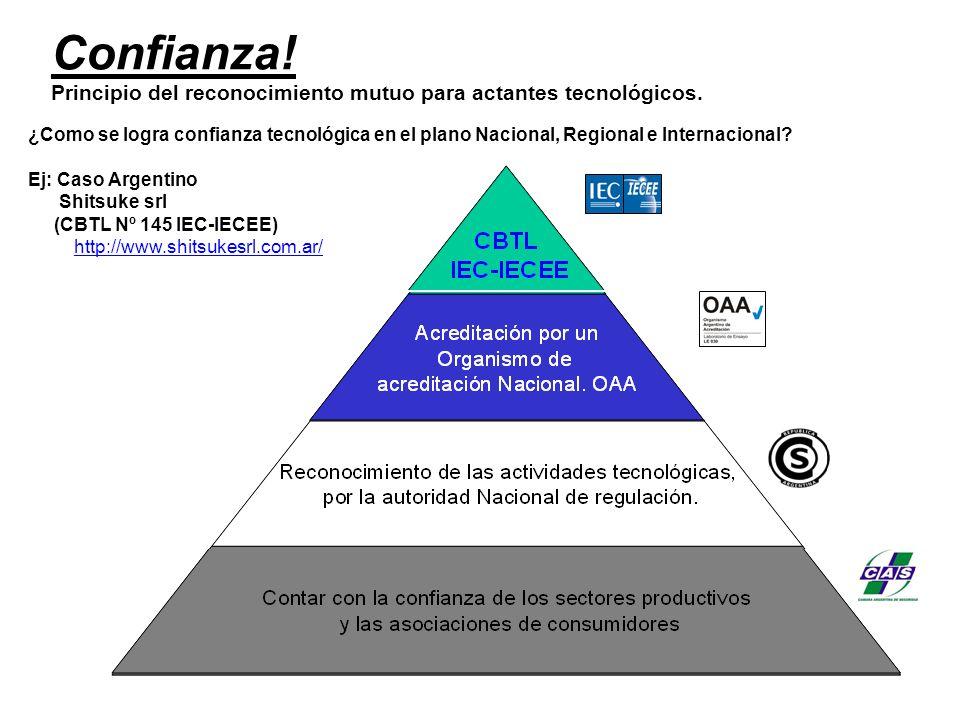 Excelencia en sistemas de gestión Excelencia en técnicas de ensayo Confianza en los resultados de ensayos Ambos sistemas son recomendados por la OMC para dar cumplimiento a la meta 8a) de los O.D.M.