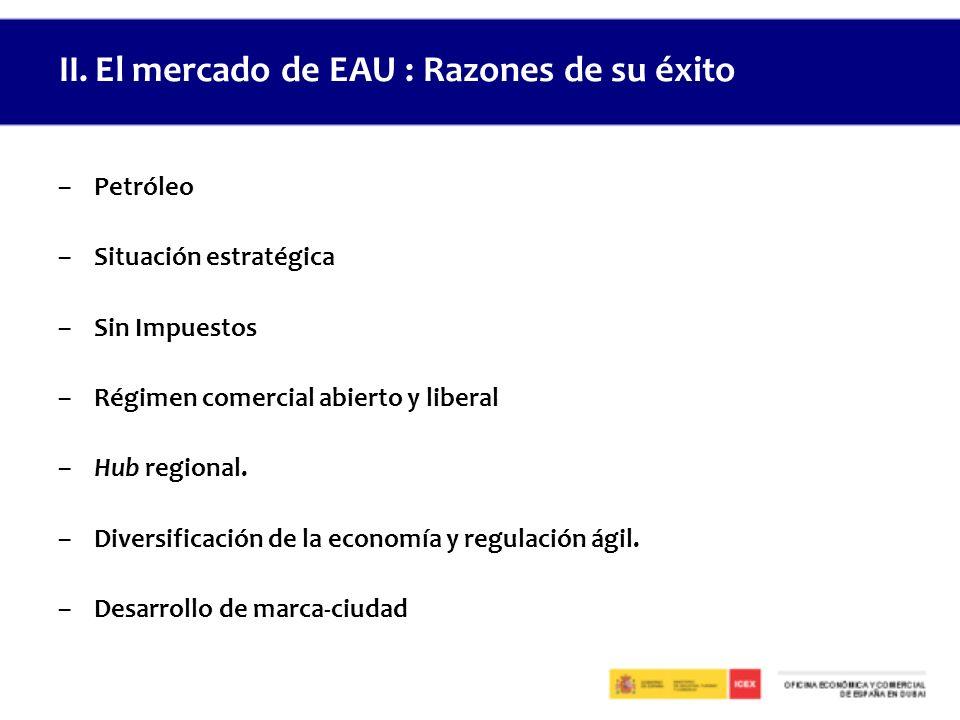 –Petróleo –Situación estratégica –Sin Impuestos –Régimen comercial abierto y liberal –Hub regional.