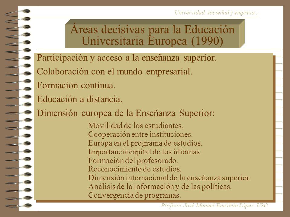 Universidad, sociedad y empresa...Participación y acceso a la enseñanza superior.