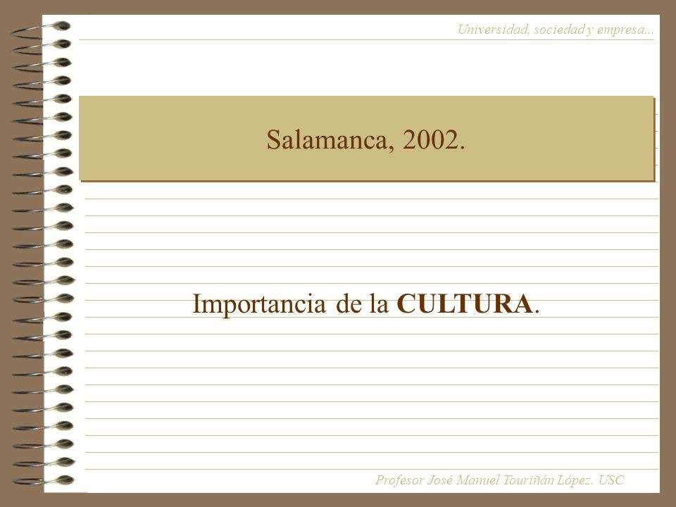 Salamanca, 2002.Universidad, sociedad y empresa...