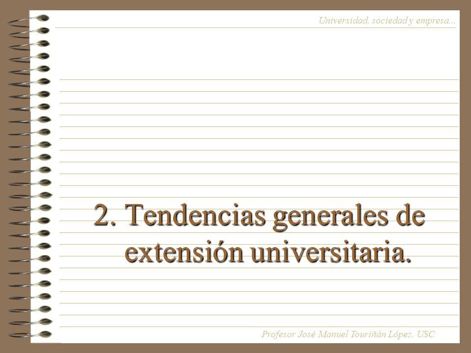 2.Tendencias generales de extensión universitaria.