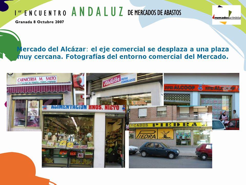 Mercado del Alcázar: el eje comercial se desplaza a una plaza muy cercana. Fotografías del entorno comercial del Mercado.