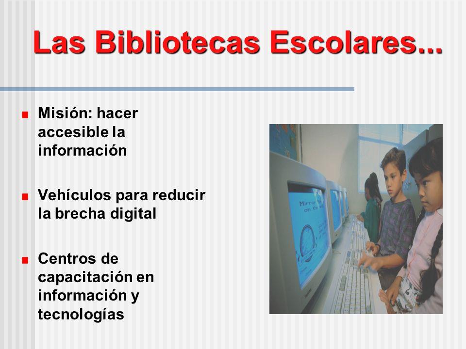 Las Bibliotecas Escolares...