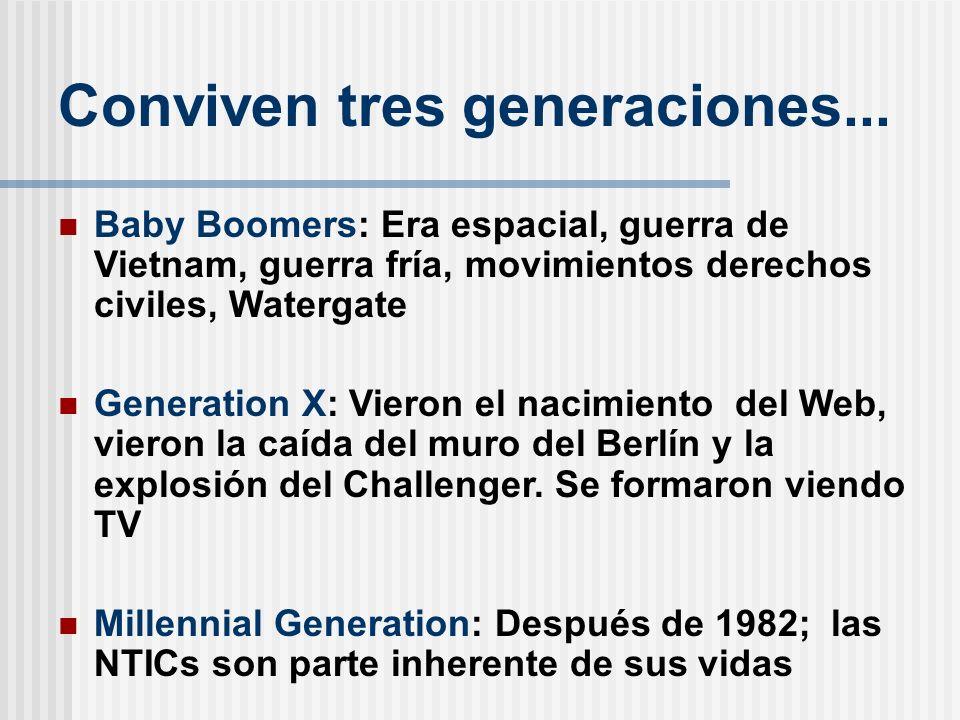 Conviven tres generaciones...
