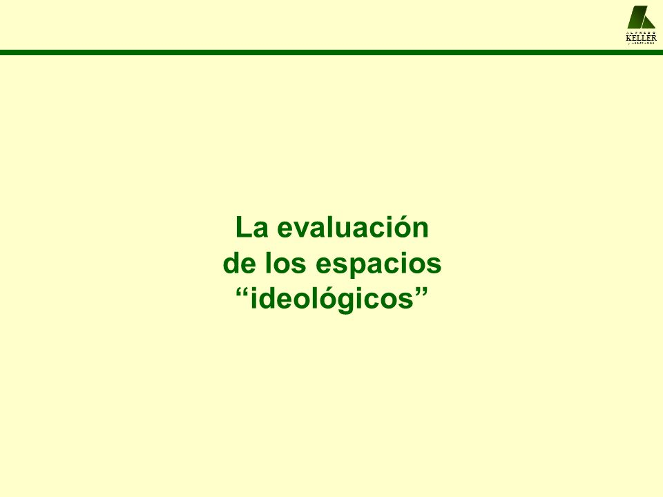 A L F R E D O KELLER y A S O C I A D O S La evaluación de los espacios ideológicos