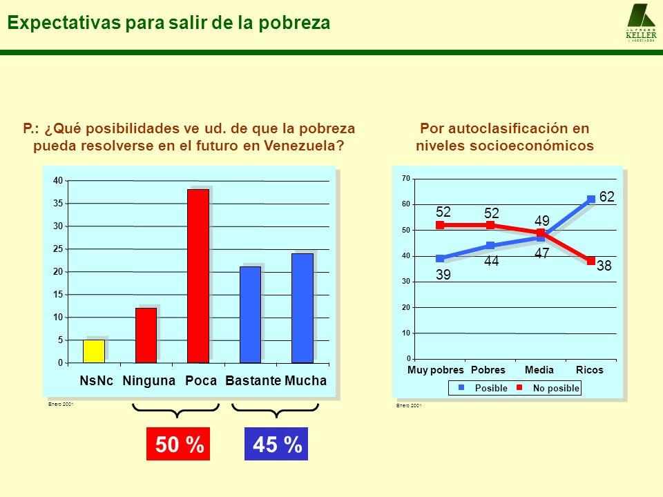 P.: (Sólo para el 45% que cree que la pobreza puede ser superada): En su criterio, ¿qué es lo más importante que debe pasar en el país para que se pueda disminuir la pobreza.