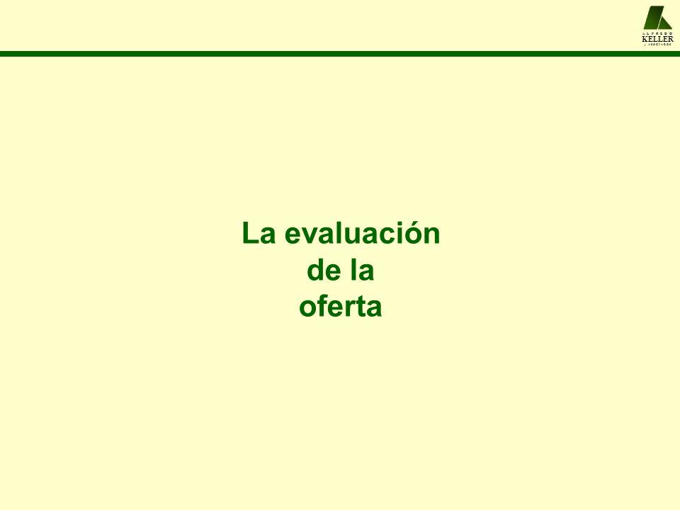 A L F R E D O KELLER y A S O C I A D O S La evaluación de la oferta