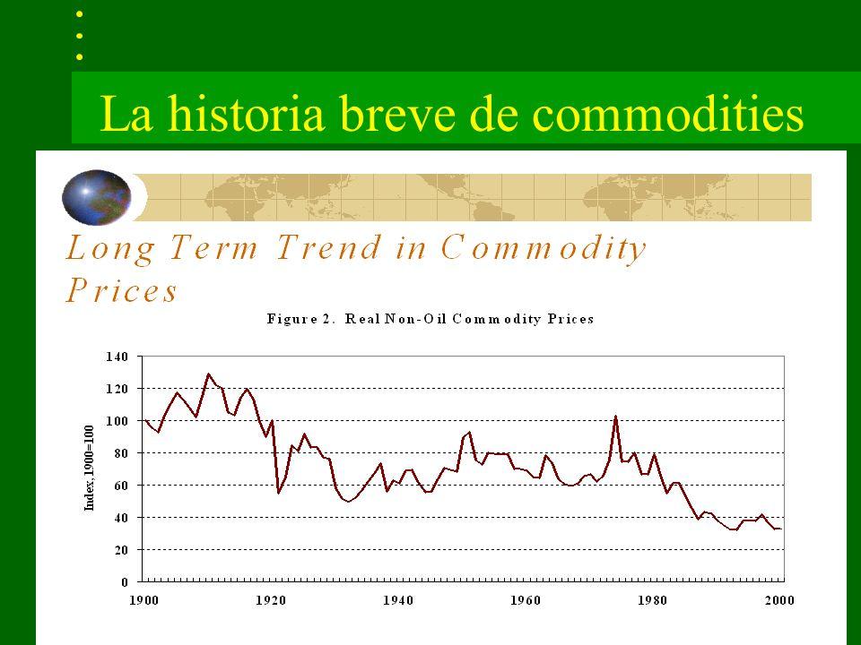 La historia breve de commodities