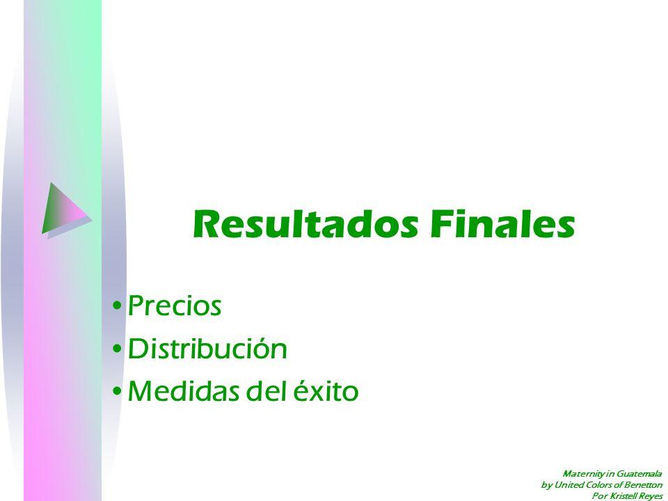 Maternity in Guatemala by United Colors of Benetton Por Kristell Reyes Resultados Finales Precios Distribución Medidas del éxito
