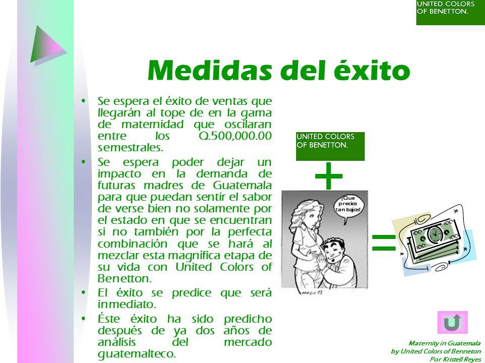 Maternity in Guatemala by United Colors of Benneton Por Kristell Reyes Medidas del éxito Se espera el éxito de ventas que llegarán al tope de en la ga