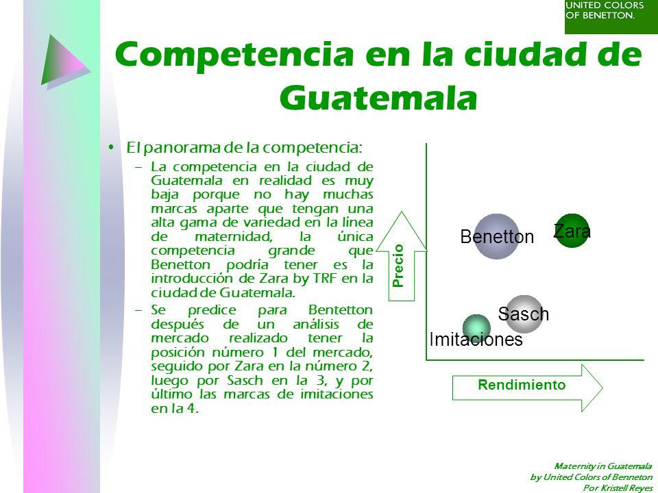 Maternity in Guatemala by United Colors of Benneton Por Kristell Reyes Medidas del éxito Se espera el éxito de ventas que llegarán al tope de en la gama de maternidad que oscilaran entre los Q.500,000.00 semestrales.