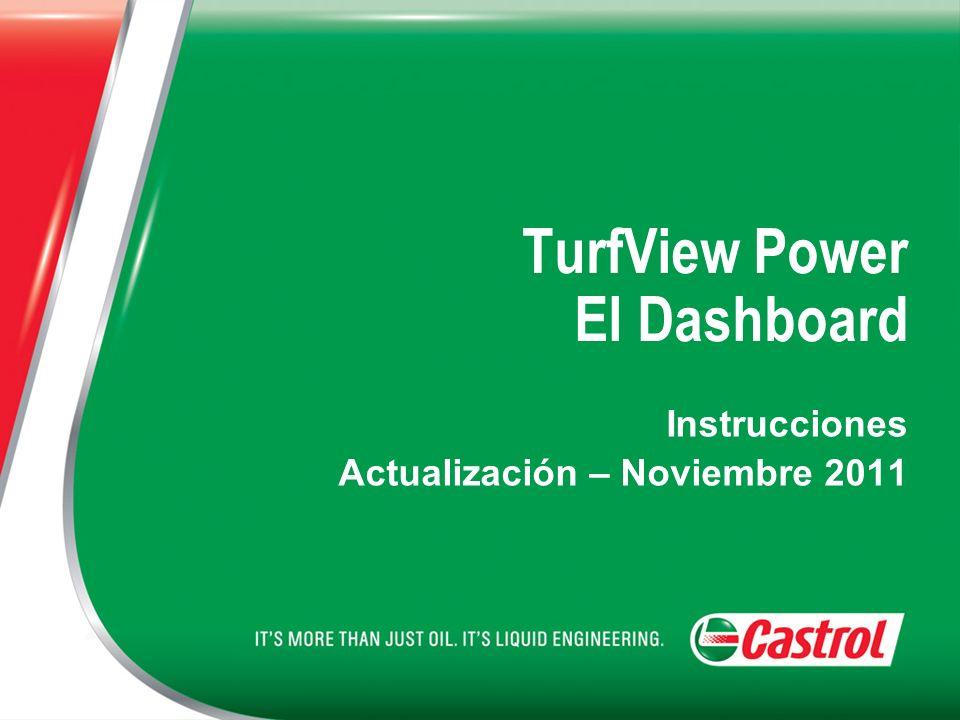 TurfView Power El Dashboard Instrucciones Actualización – Noviembre 2011