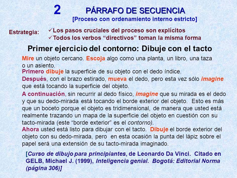 PÁRRAFO DE COMPARACIÓN / CONTRASTE Selección de objetos para comparar Establecimiento de categorías (rasgos) en que se comparan los objetos DESCRIPCIÓN CONTRAPUESTA DESCRIPCIÓN SEPARADA Categoría 1 : Objeto A + objeto B Categoría 2 : Objeto A + Objeto B : + … Objeto A: Categoría 1 + Categoría 2 + … : 1 + … Objeto B: Categoría 1 + Categoría 2 + … 3 Preescritura: Escritura: ESTRATEGIASESTRATEGIAS