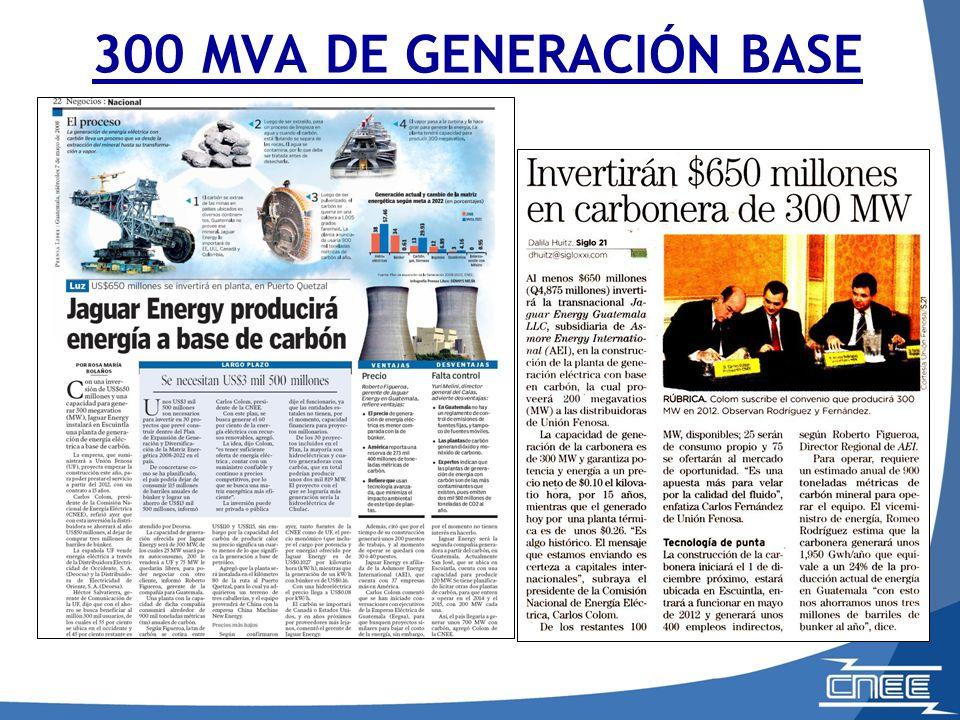 300 MVA DE GENERACIÓN BASE