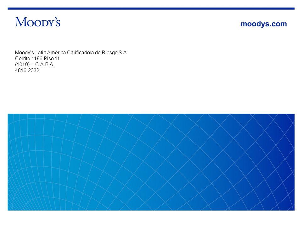 25 Inversiones del Mercado Asegurador, Agosto 2010 Moodys Latin América Calificadora de Riesgo S.A. Cerrito 1186 Piso 11 (1010) – C.A.B.A. 4816-2332
