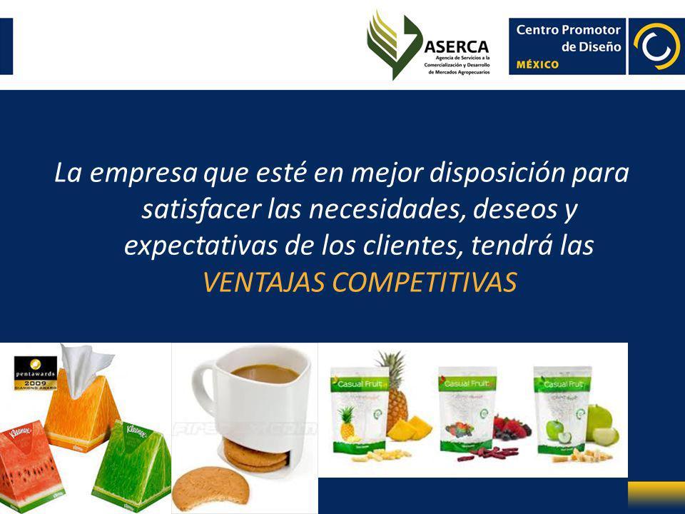 La empresa que esté en mejor disposición para satisfacer las necesidades, deseos y expectativas de los clientes, tendrá las VENTAJAS COMPETITIVAS