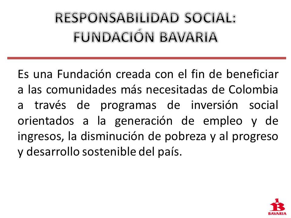 Es una Fundación creada con el fin de beneficiar a las comunidades más necesitadas de Colombia a través de programas de inversión social orientados a