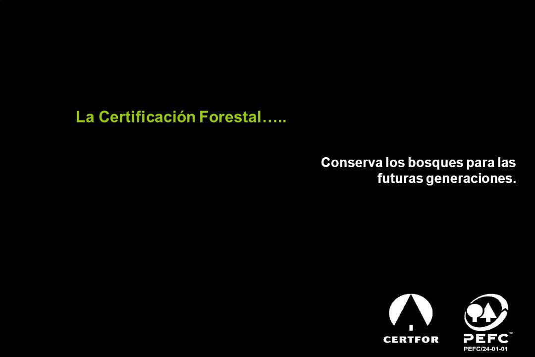 La Certificación Forestal….. Conserva los bosques para las futuras generaciones.