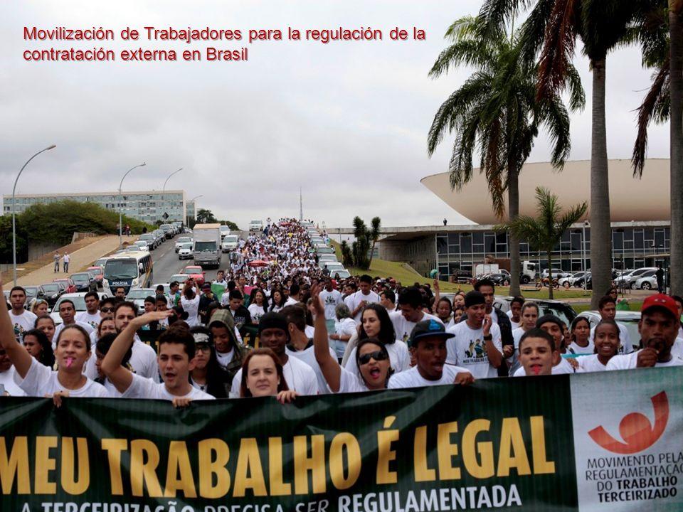 Movilización de Trabajadores para la regulación de la contratación externa en Brasil