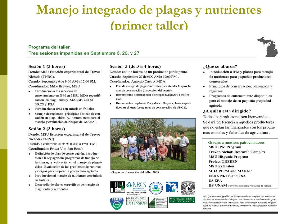Manejo integrado de plagas y nutrientes (primer taller)
