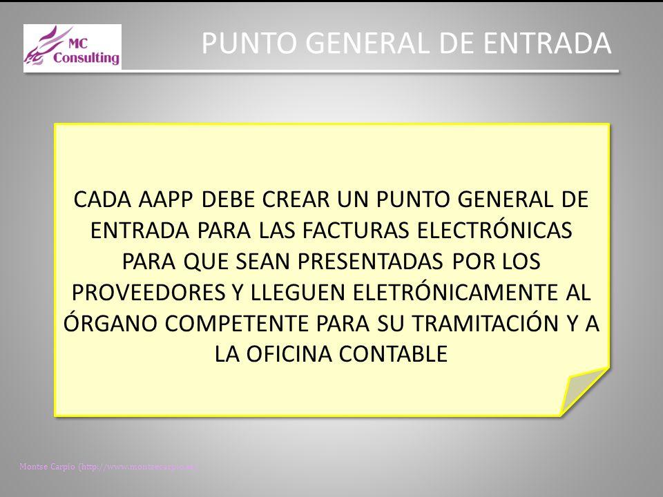 Montse Carpio (http://www.montsecarpio.es) ENTRADA EN VIGOR A LOS 20 DIAS DE LA PUBLICACIÓN EN EL BOE EXCEPTO: ARTÍCULO 4 (OBLIGACIONES DE PRESENTACIÓN DE LA FACTURA ELECTRÓNICA): EL 15 DE ENERO DE 2015 ARTÍCULO 9 (ANOTACIÓN EN EL REGISTRO CONTABLE DE FACTURAS): EL 1 DE ENERO DE 2014 EXCEPTO: ARTÍCULO 4 (OBLIGACIONES DE PRESENTACIÓN DE LA FACTURA ELECTRÓNICA): EL 15 DE ENERO DE 2015 ARTÍCULO 9 (ANOTACIÓN EN EL REGISTRO CONTABLE DE FACTURAS): EL 1 DE ENERO DE 2014