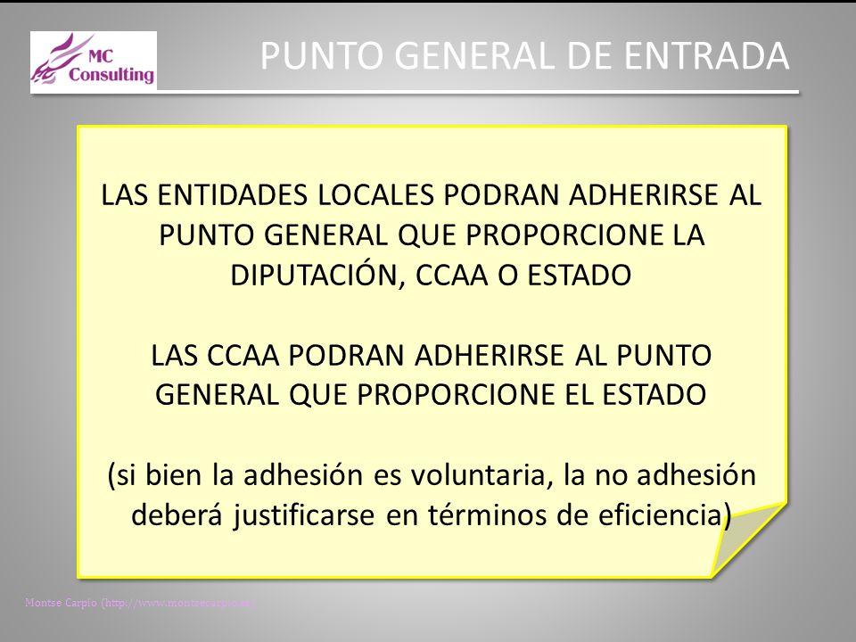 Montse Carpio (http://www.montsecarpio.es) PUNTO GENERAL DE ENTRADA SE DARÁ PUBLICIDAD A LOS PUNTOS GENERALES DE ENTRADA Y A LOS REGISTROS CONTABLES