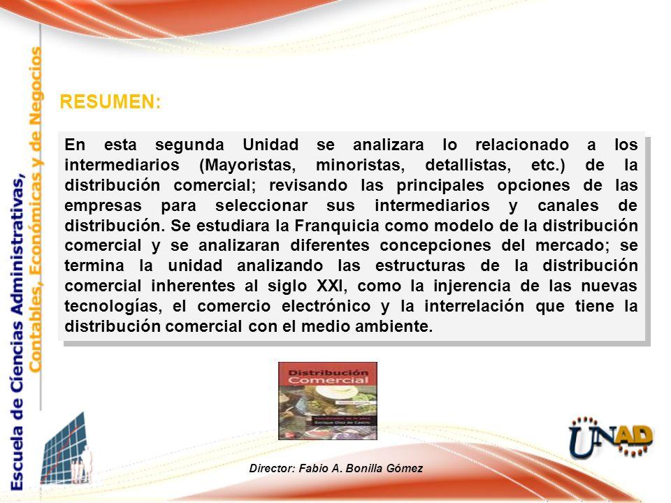 En esta segunda Unidad se analizara lo relacionado a los intermediarios (Mayoristas, minoristas, detallistas, etc.) de la distribución comercial; revi