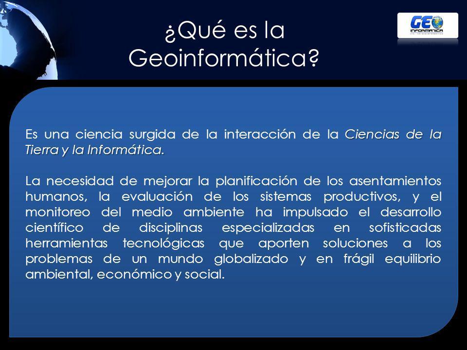 ¿Qué es la Geoinformática.