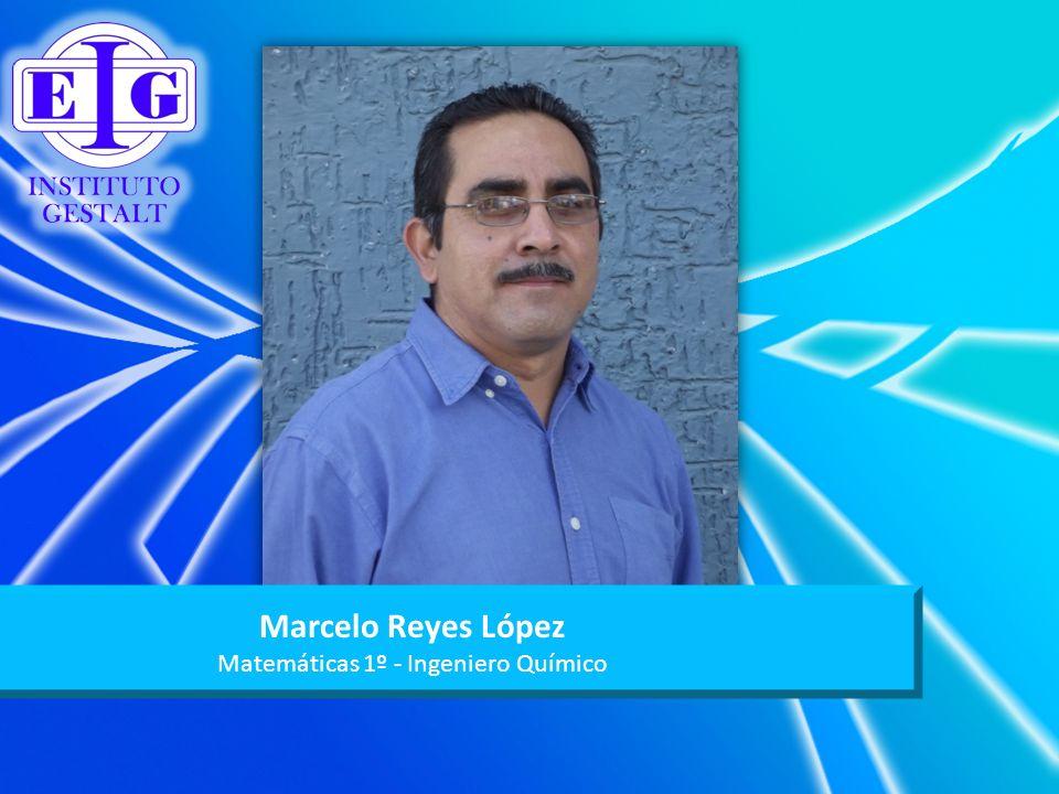 Marcelo Reyes López Matemáticas 1º - Ingeniero Químico