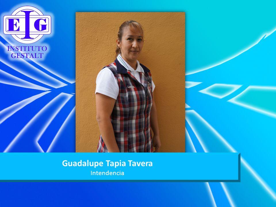 Guadalupe Tapia Tavera Intendencia