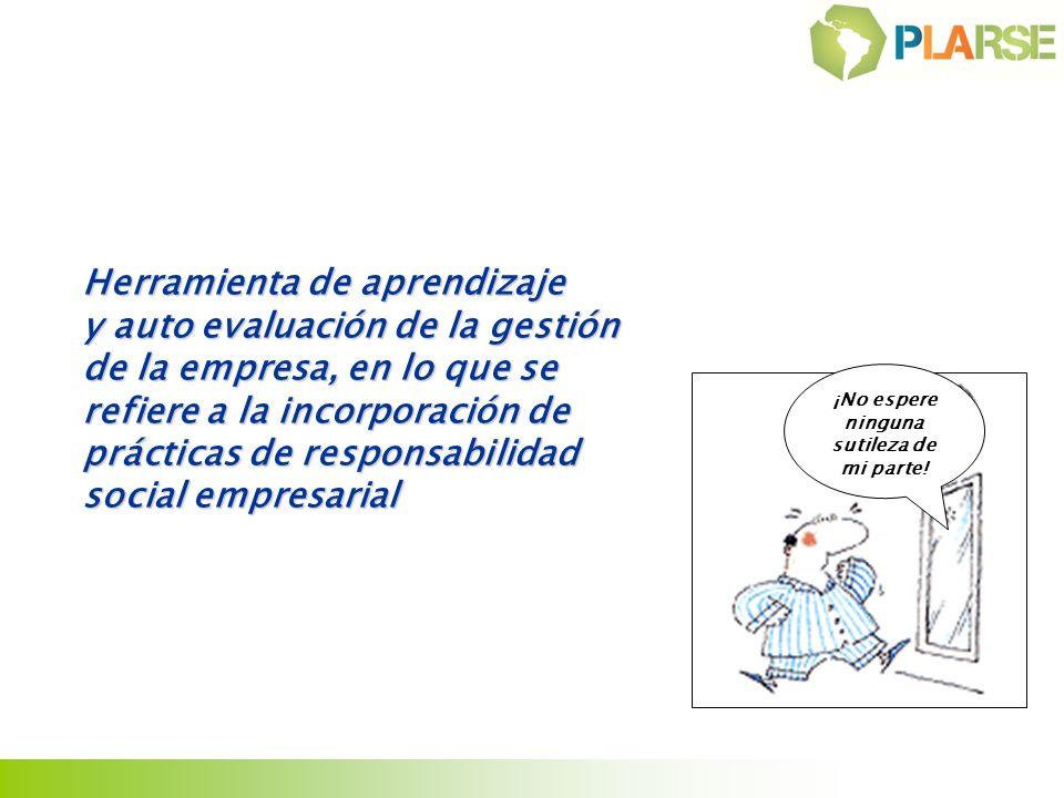 Herramienta de aprendizaje y auto evaluación de la gestión de la empresa, en lo que se refiere a la incorporación de prácticas de responsabilidad soci