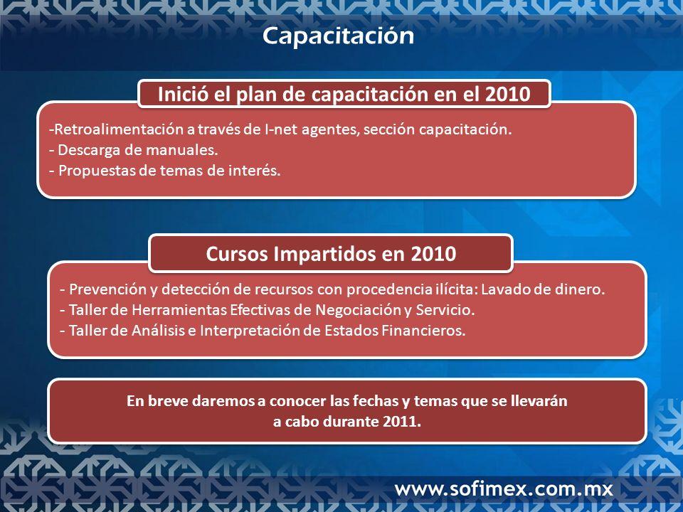 Capacitación En breve daremos a conocer las fechas y temas que se llevarán a cabo durante 2011.