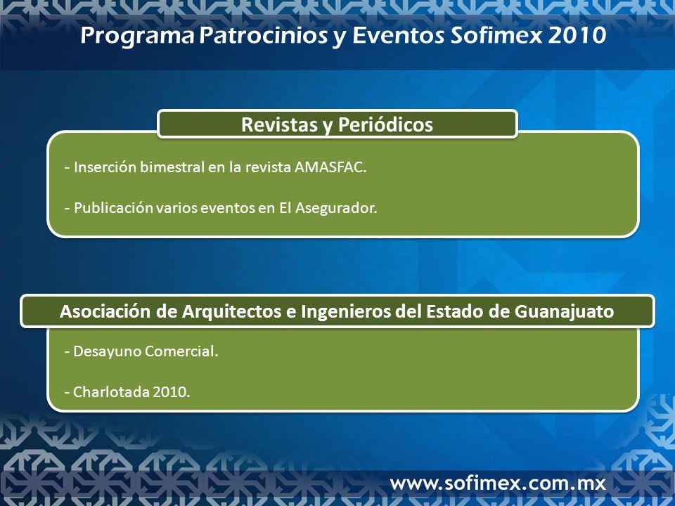 Asociación de Arquitectos e Ingenieros del Estado de Guanajuato - Desayuno Comercial.