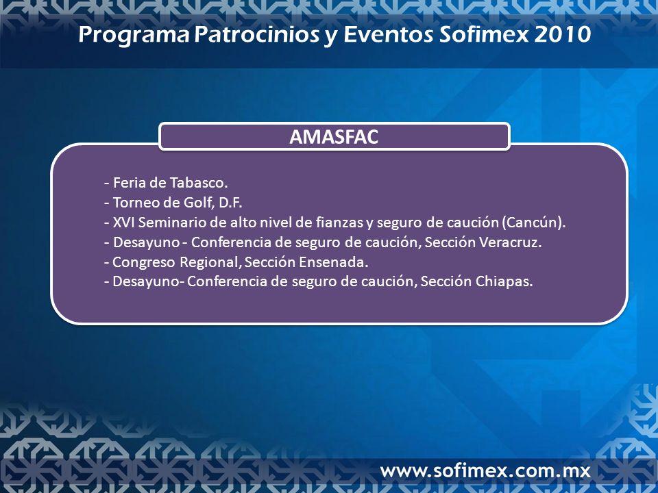AMASFAC - Feria de Tabasco. - Torneo de Golf, D.F.