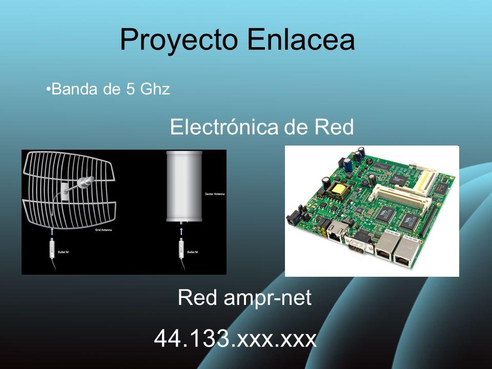 Proyecto Enlacea Banda de 5 Ghz Electrónica de Red Red ampr-net 44.133.xxx.xxx