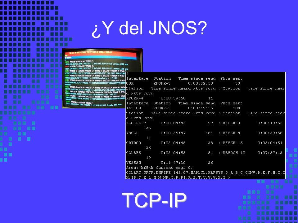 ¿Y del JNOS? TCP-IP