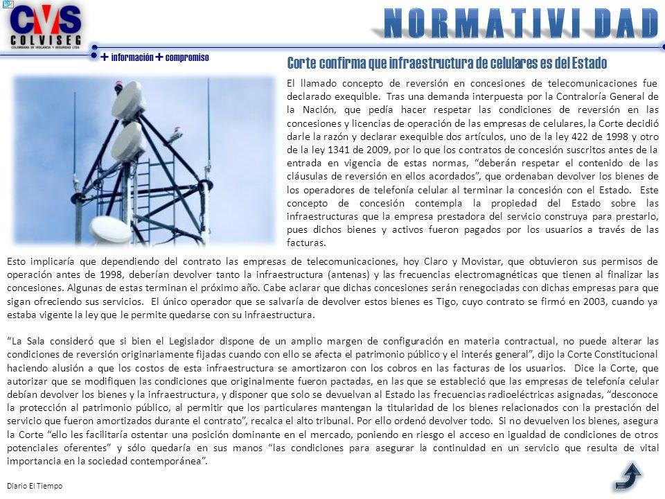 + información + compromiso Esto implicaría que dependiendo del contrato las empresas de telecomunicaciones, hoy Claro y Movistar, que obtuvieron sus p